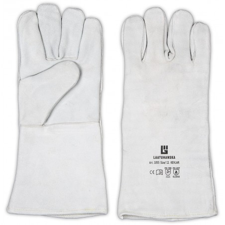Welding gloves made by split leather